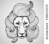 Portrait Of A Lion With A Chic...