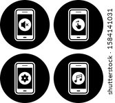 4 mobile apps icons sheet...