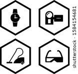4 icon set of electronic...