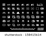 camera settings symbols | Shutterstock .eps vector #158415614
