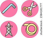 set of 4 construction icons on...   Shutterstock .eps vector #1584181777