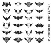 set of emblems with wings.... | Shutterstock .eps vector #1584187414