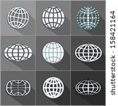 abstract globe symbol    icon... | Shutterstock .eps vector #158421164