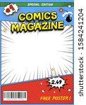 comic book cover. comics... | Shutterstock .eps vector #1584241204
