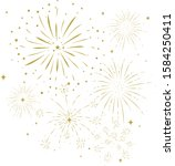bursting fireworks with stars... | Shutterstock .eps vector #1584250411