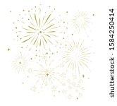 bursting fireworks with stars... | Shutterstock . vector #1584250414