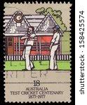 australia   circa 1977  a stamp ... | Shutterstock . vector #158425574