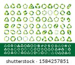 big set of recycle icon. green... | Shutterstock .eps vector #1584257851