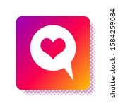 white heart in speech bubble... | Shutterstock . vector #1584259084