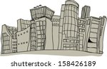 vector illustration of a city | Shutterstock .eps vector #158426189