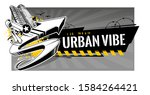 horizontal banner with abstract ... | Shutterstock .eps vector #1584264421