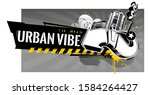 horizontal banner with abstract ...   Shutterstock .eps vector #1584264427