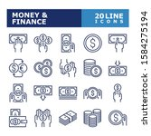 money icons. money and finance... | Shutterstock .eps vector #1584275194