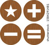 4 basic elements icons for...