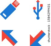 4 basic elements icons sheet...   Shutterstock .eps vector #1584299431