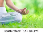 close up of female hand zen... | Shutterstock . vector #158433191