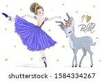 hand drawn beautiful cute...   Shutterstock .eps vector #1584334267