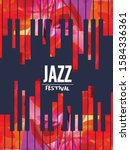 jazz music festival with piano...   Shutterstock .eps vector #1584336361