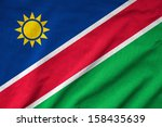 ruffled namibia flag | Shutterstock . vector #158435639