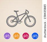 vector bike icons | Shutterstock .eps vector #158435885