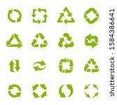 recycle arrows. garbage... | Shutterstock .eps vector #1584386641