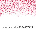 love heart confetti. wedding... | Shutterstock .eps vector #1584387424