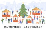 christmas market. holiday fair  ... | Shutterstock .eps vector #1584403687