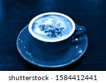 color of year  2020. cup of...   Shutterstock . vector #1584412441