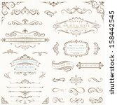 ornate frames and scroll... | Shutterstock .eps vector #158442545
