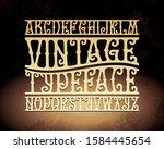 vintage decorative typeface... | Shutterstock .eps vector #1584445654