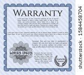 blue formal warranty...   Shutterstock .eps vector #1584458704
