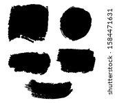 sliver dirty brushes. grunge... | Shutterstock .eps vector #1584471631