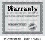 grey retro warranty certificate ...   Shutterstock .eps vector #1584476887