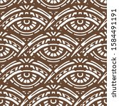 hand made ethnic pattern with... | Shutterstock . vector #1584491191