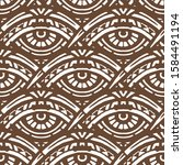 hand made ethnic pattern with... | Shutterstock .eps vector #1584491194