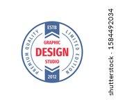 graphic design studio   concept ... | Shutterstock .eps vector #1584492034
