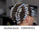 perm in the barbershop | Shutterstock . vector #158449451