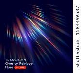 radiant rainbow lens light leak ... | Shutterstock .eps vector #1584499537