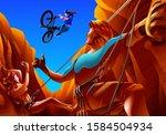 a vector illustration of a... | Shutterstock .eps vector #1584504934