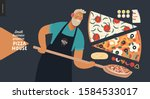 pizza house  small business...   Shutterstock .eps vector #1584533017