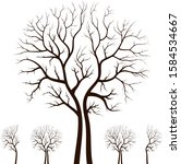 tree silhouette isolated on... | Shutterstock .eps vector #1584534667