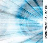 blue futuristic abstract... | Shutterstock . vector #158454101