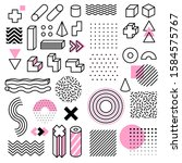 abstract geometric shapes.... | Shutterstock .eps vector #1584575767