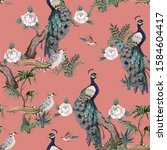seamless pattern in chinoiserie ...   Shutterstock .eps vector #1584604417