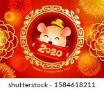 happy chinese new year 2020.... | Shutterstock .eps vector #1584618211