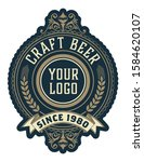 vintage style beer label layout  | Shutterstock .eps vector #1584620107