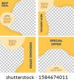 social media post template... | Shutterstock .eps vector #1584674011