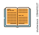 open book color line icon. book ...