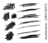 scribble brush strokes set ... | Shutterstock .eps vector #1584718471