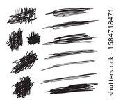 scribble brush strokes set ... | Shutterstock .eps vector #1584718471
